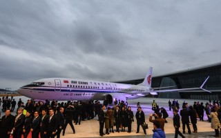浙江舟山波音737完工和交付中心交付首架飞机
