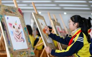 山东青岛:展才艺 迎新春